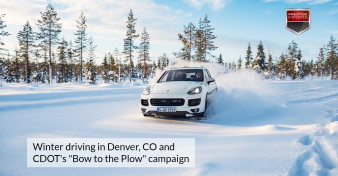 Winter driving in Denver, CO and CDOTs Bow to the Plow campaign