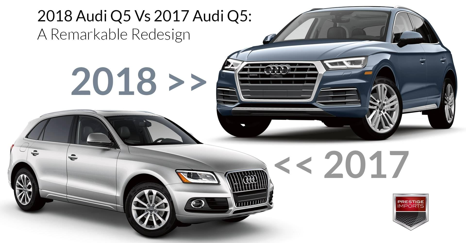 2018 audi q5 vs 2017 audi q5 a remarkable redesign. Black Bedroom Furniture Sets. Home Design Ideas