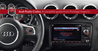 "Photo of the interior of an Audi TT. Used to illustrate the article ""Audi Radio Codes - A complete guide from Prestige Imports""."