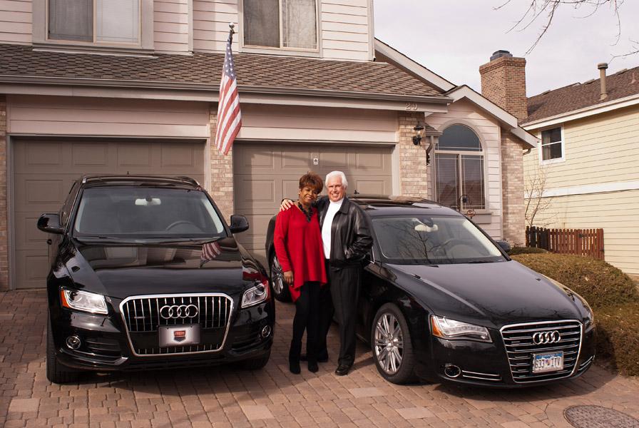 A Couple Enjoying Life Love And Audi Cars