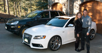 Mark and Shelly with their Porsche Cayenne and Audi S4