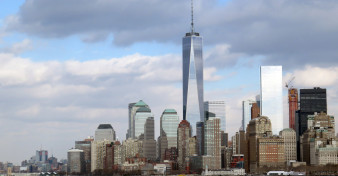 One World Trade Center dominates the skyline of Lower Manhatten