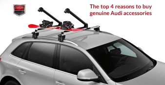 Audi Q5 with genuine Audi snow board rack attached
