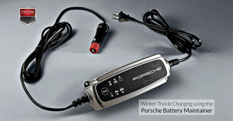 Winter Trickle Charging using the Porsche Battery Maintainer