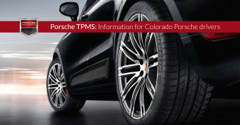 "Photo of the wheels and tires on a Porsche Macan Turbo. Used to illustrate the article""Porsche TPMS - Information for Colorado Porsche drivers""."