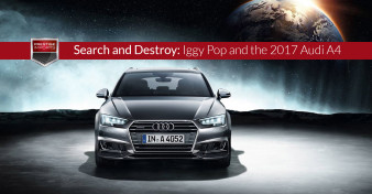 "Photo of the all-new 2017 Audi A4. Used to illustrate the article ""Search and Destroy - Iggy Pop and the 2017 Audi A4""."