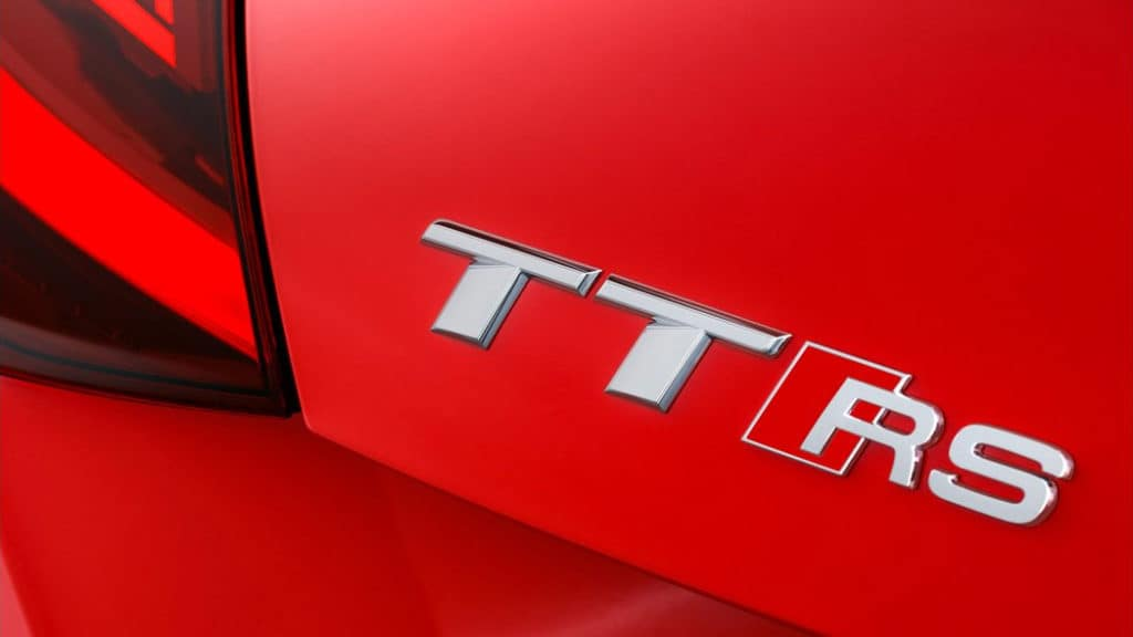 2018 Audi TT RS - Badge