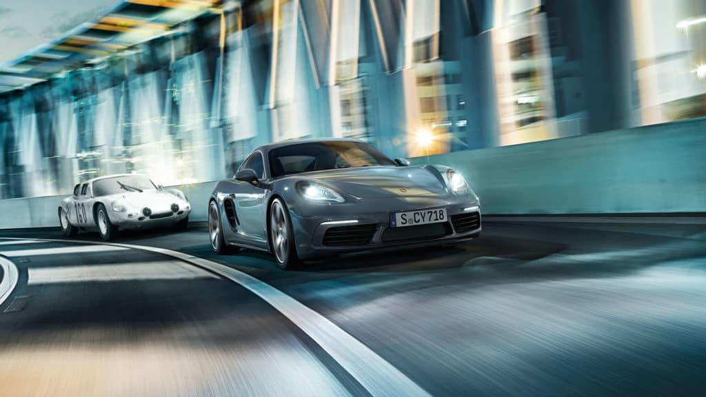 Photo of the Porsche 718 Cayman. Test drive one at Prestige Imports, your Denver Porsche dealership, today.