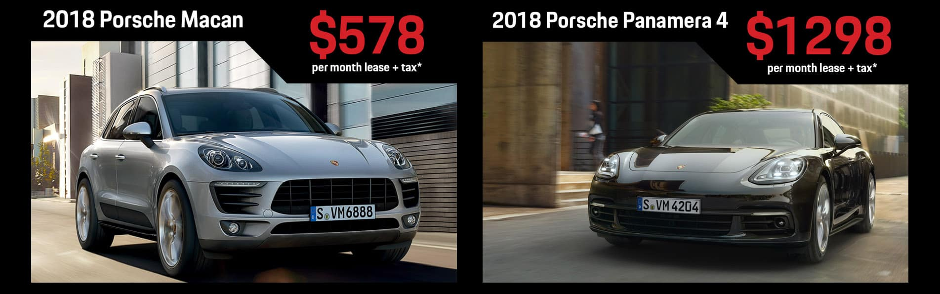Porsche Lease Specials on Macan and Panamera