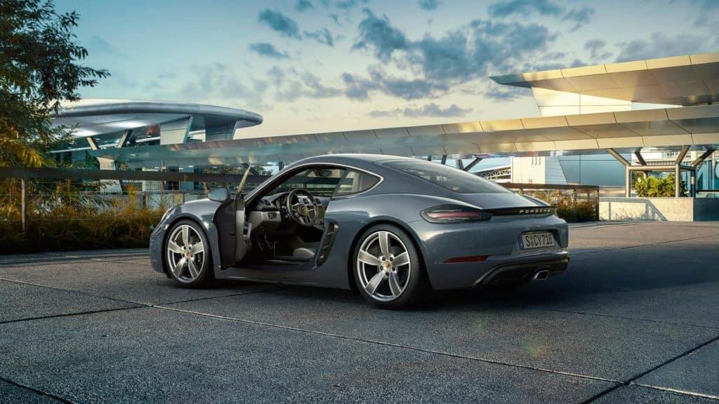 2018 Porsche 718 Cayman - Driver's side rear three quarter view