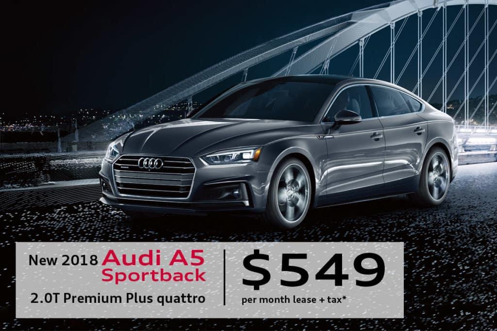 New 2018 Audi A5 Sportback 2.0T Premium Plus quattro