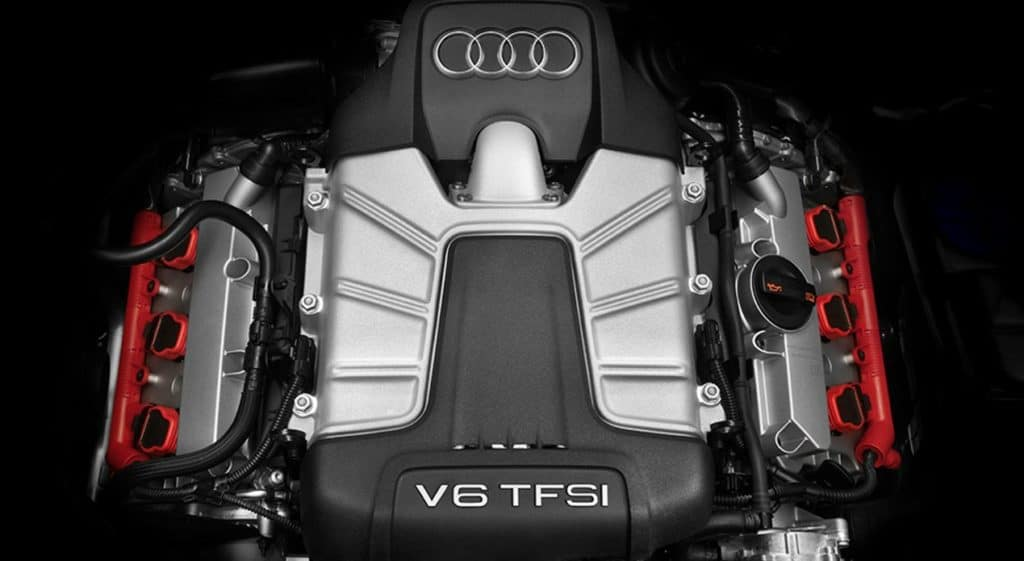 2018 Audi A6 supercharged 340-hp V6 engine