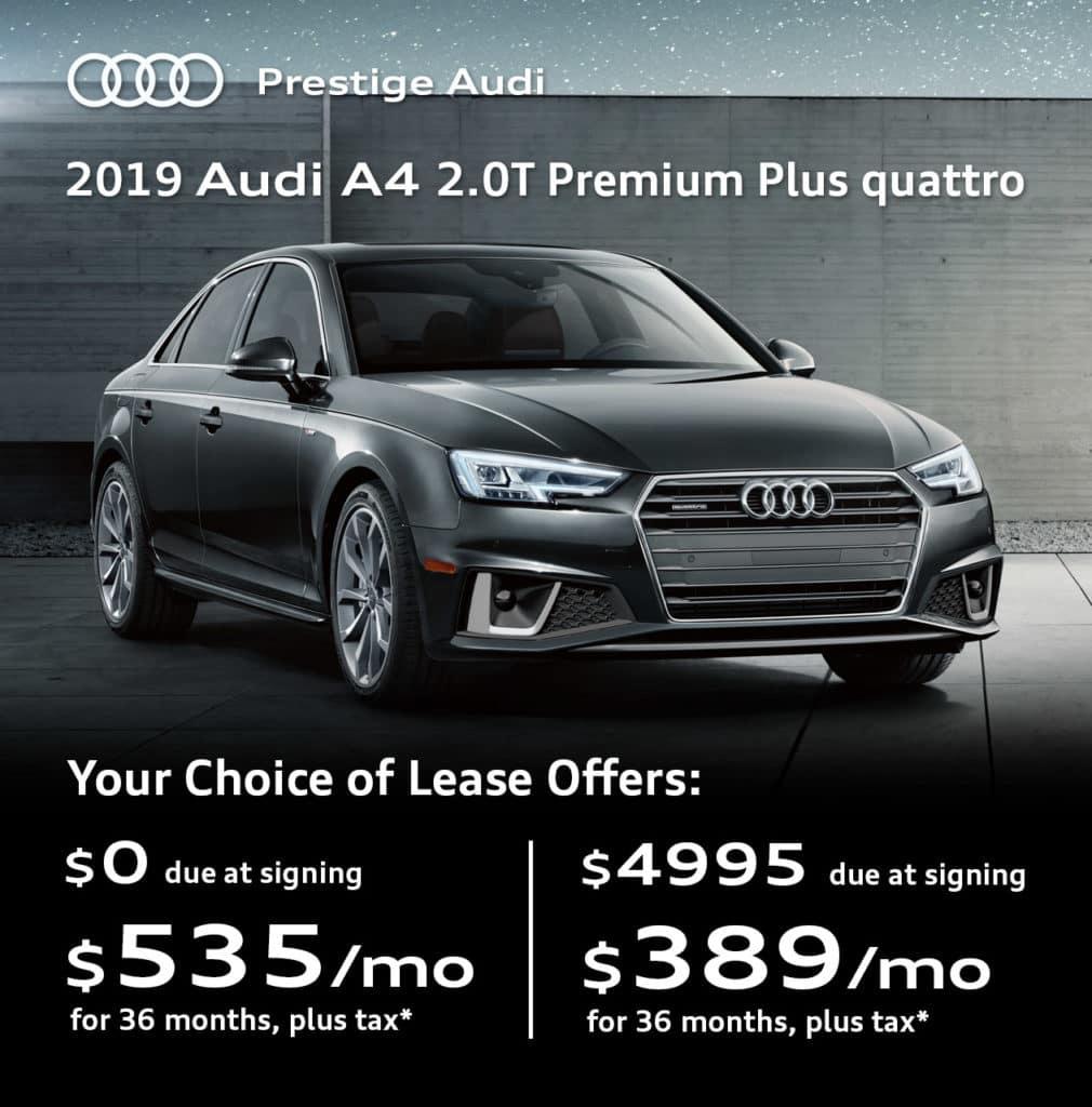 New 2019 Audi A4 2.0T Premium Plus quattro