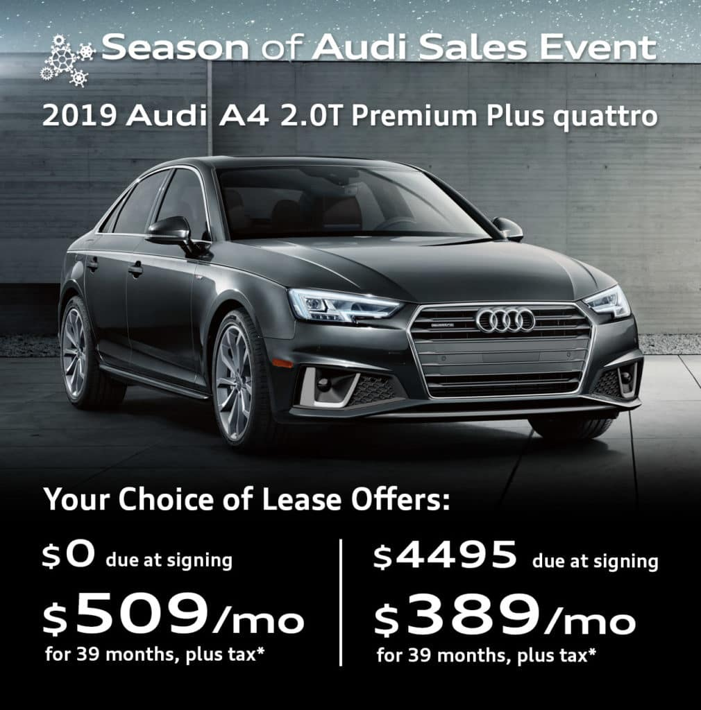 New 2019 Audi A4 2.0T Premium quattro