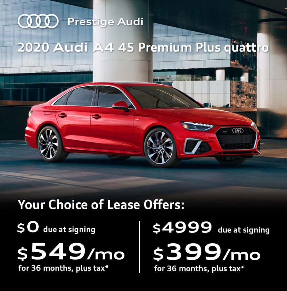 New 2020 Audi A4 45 Premium Plus quattro