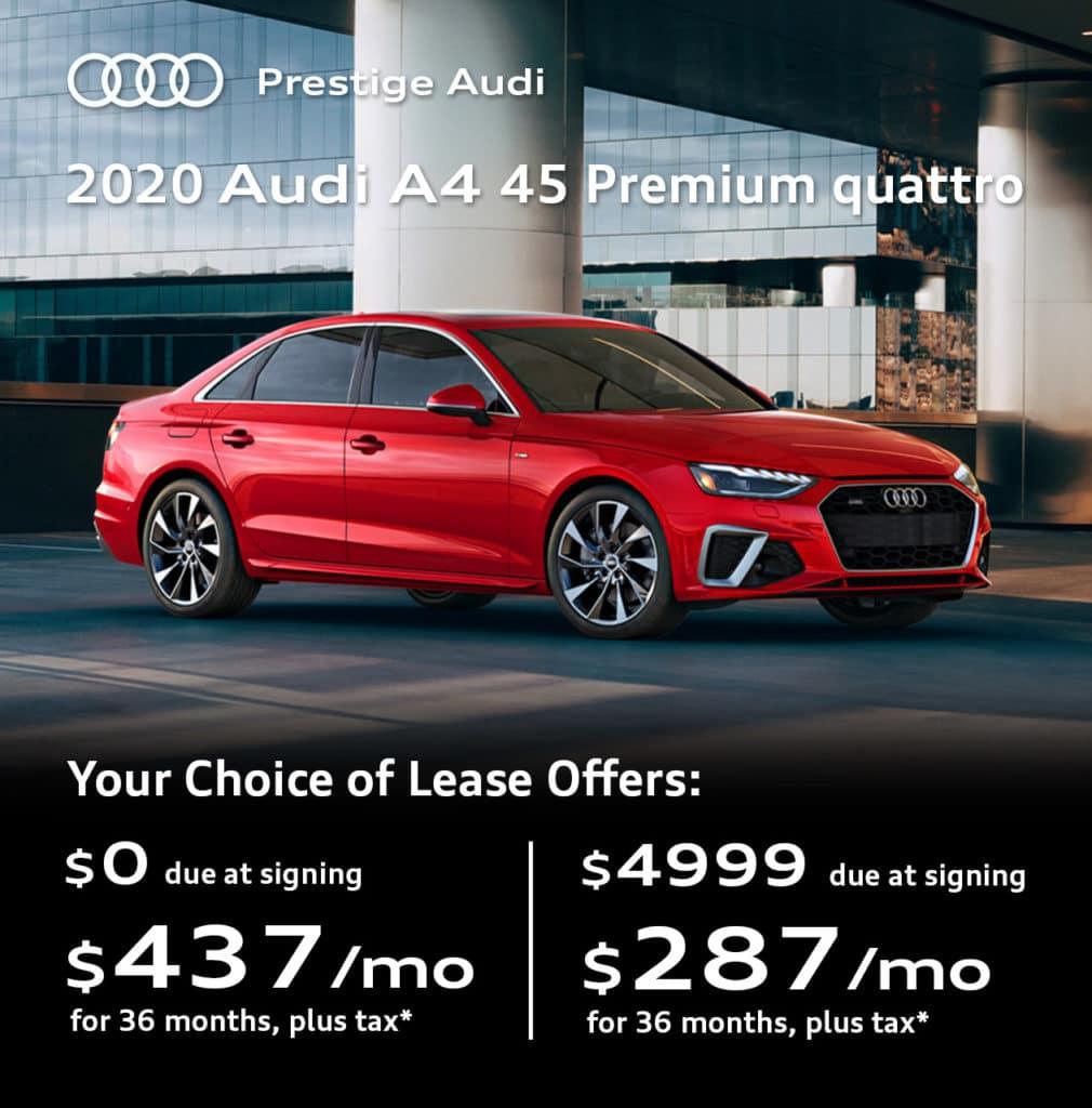New 2020 Audi A4 45 Premium quattro