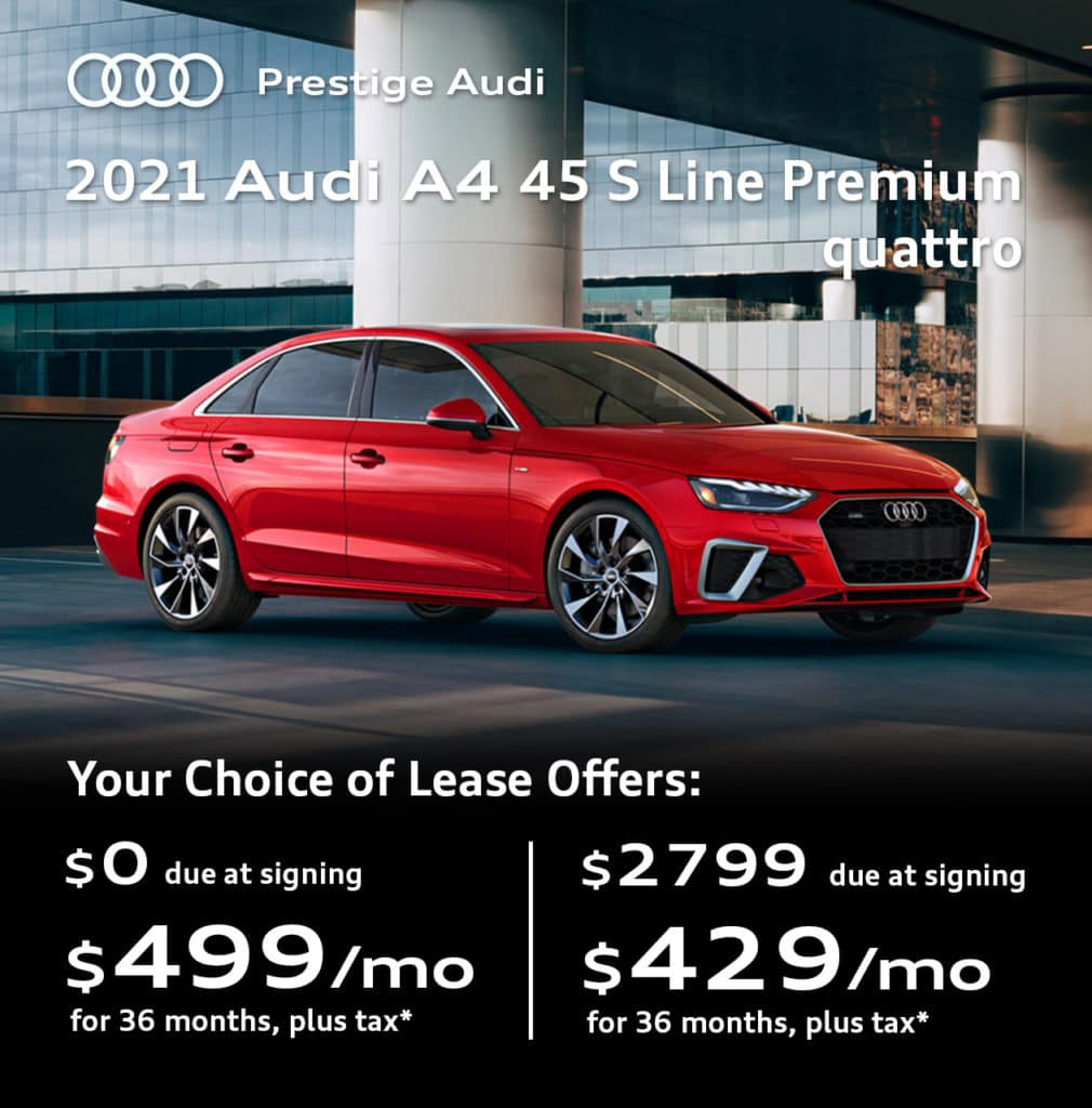 New 2021 Audi A4 45 S line Premium quattro