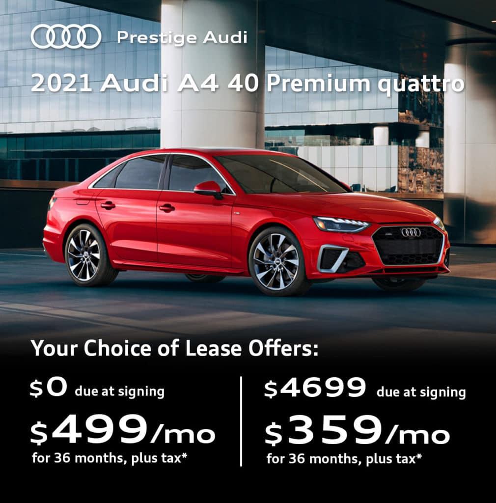 New 2021 Audi A4 40 Premium quattro