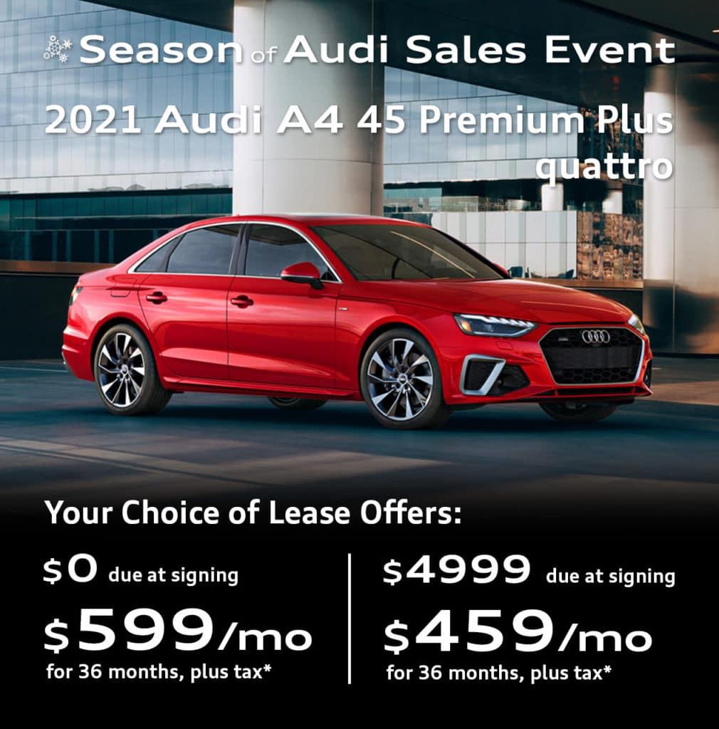 New 2021 Audi A4 45 S line Premium Plus quattro