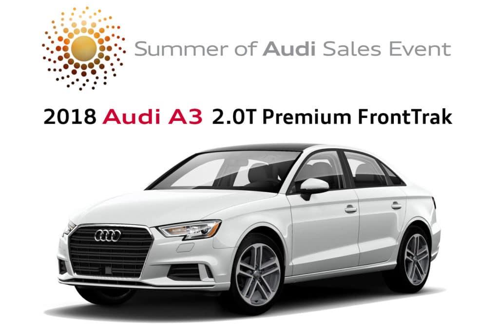 New 2018 Audi A3 2.0T Premium FrontTrak