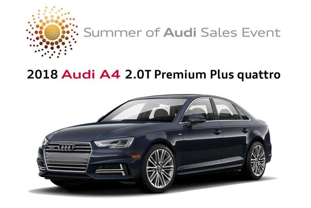 New 2018 Audi A4 2.0T Premium Plus quattro