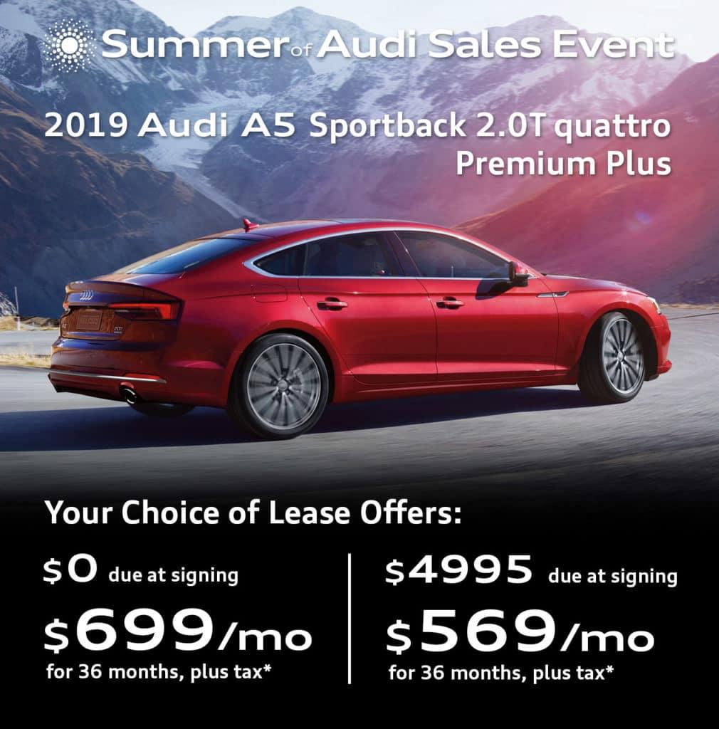 New 2019 Audi A5 Sportback 2.0T Premium Plus quattro