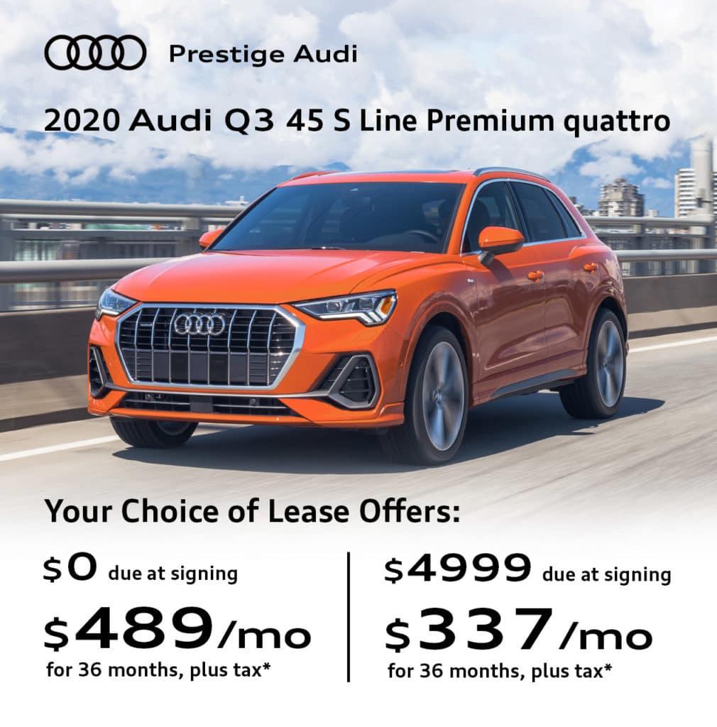 New 2020 Audi Q3 45 S Line Premium quattro