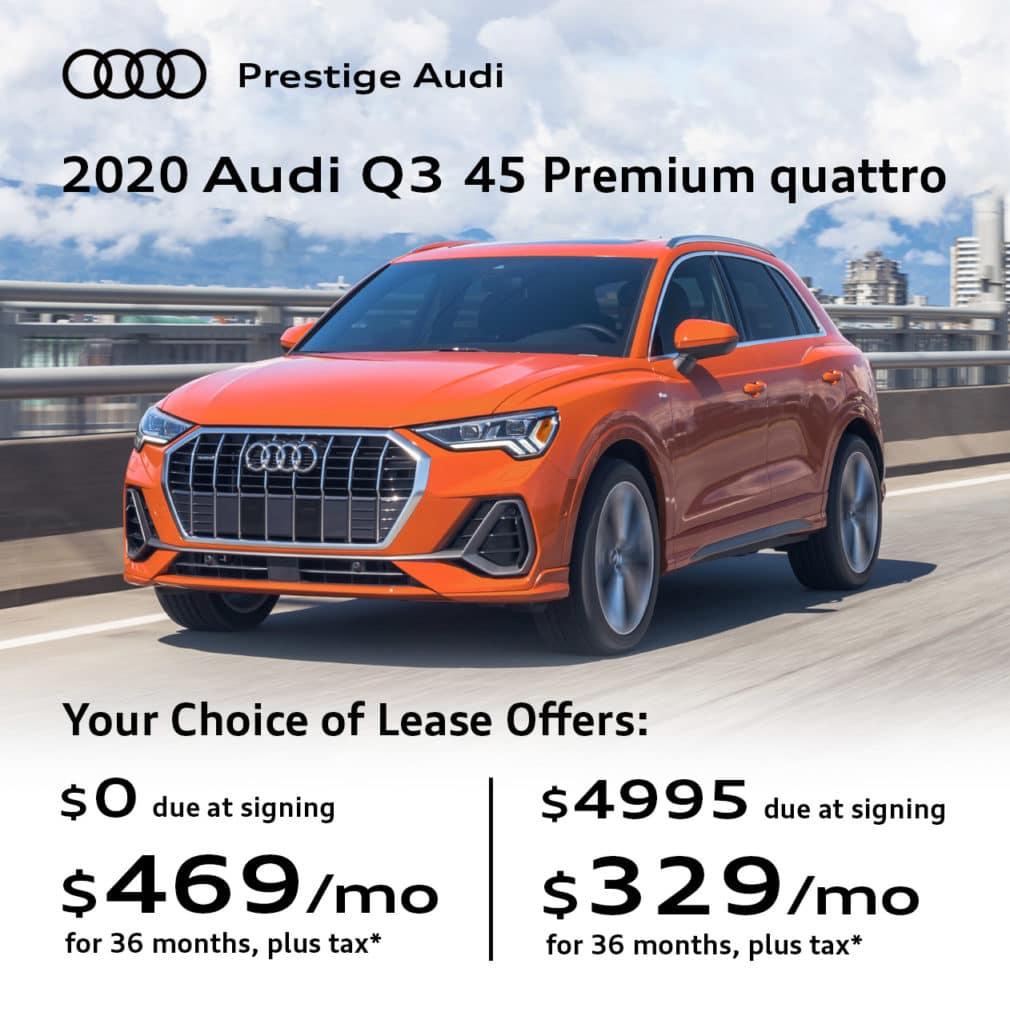 New 2020 Audi Q3 45 Premium quattro