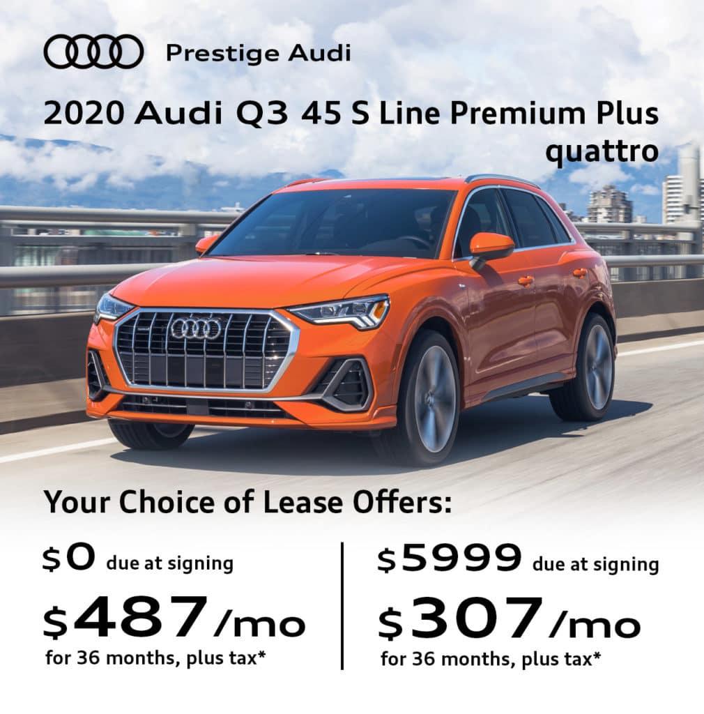 New 2020 Audi Q3 45 S Line Premium Plus quattro