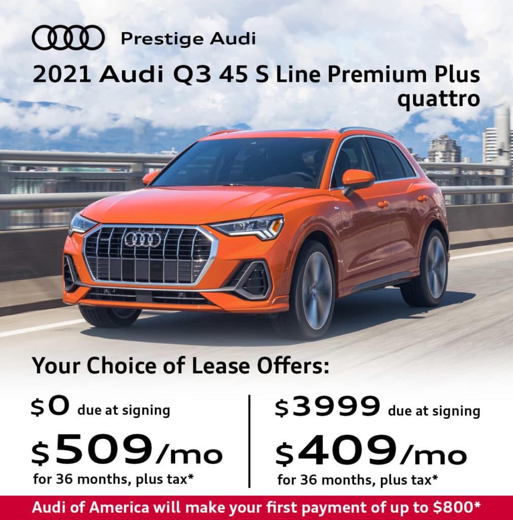 New 2021 Audi Q3 45 S Line Premium Plus quattro