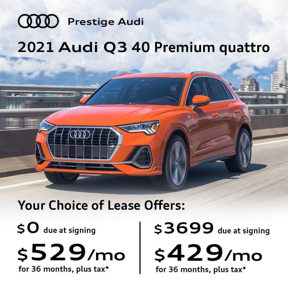 New 2021 Audi Q3 40 Premium quattro