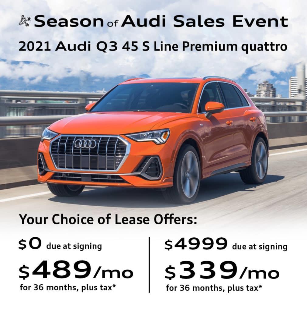 New 2021 Audi Q3 45 S Line Premium quattro