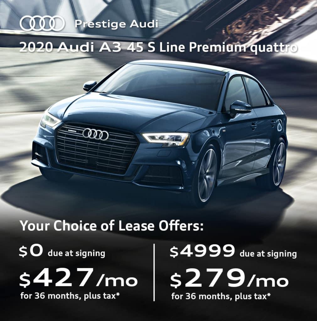 New 2020 Audi A3 45 S Line Premium quattro