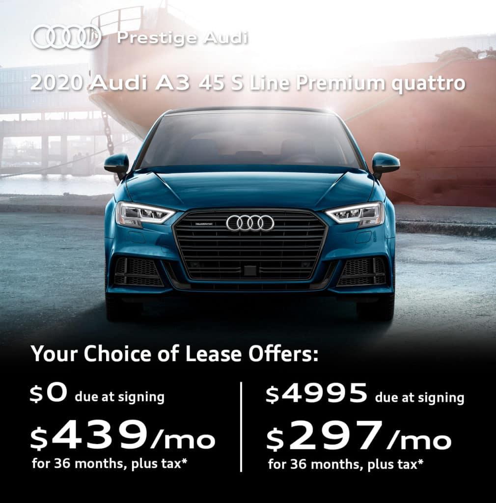 New 2020 Audi A3 45 S-Line Premium quattro
