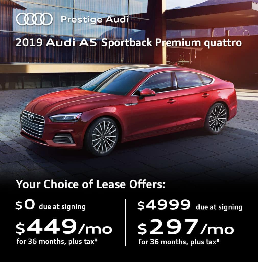New 2019 Audi A5 Sportback 2.0T Premium quattro