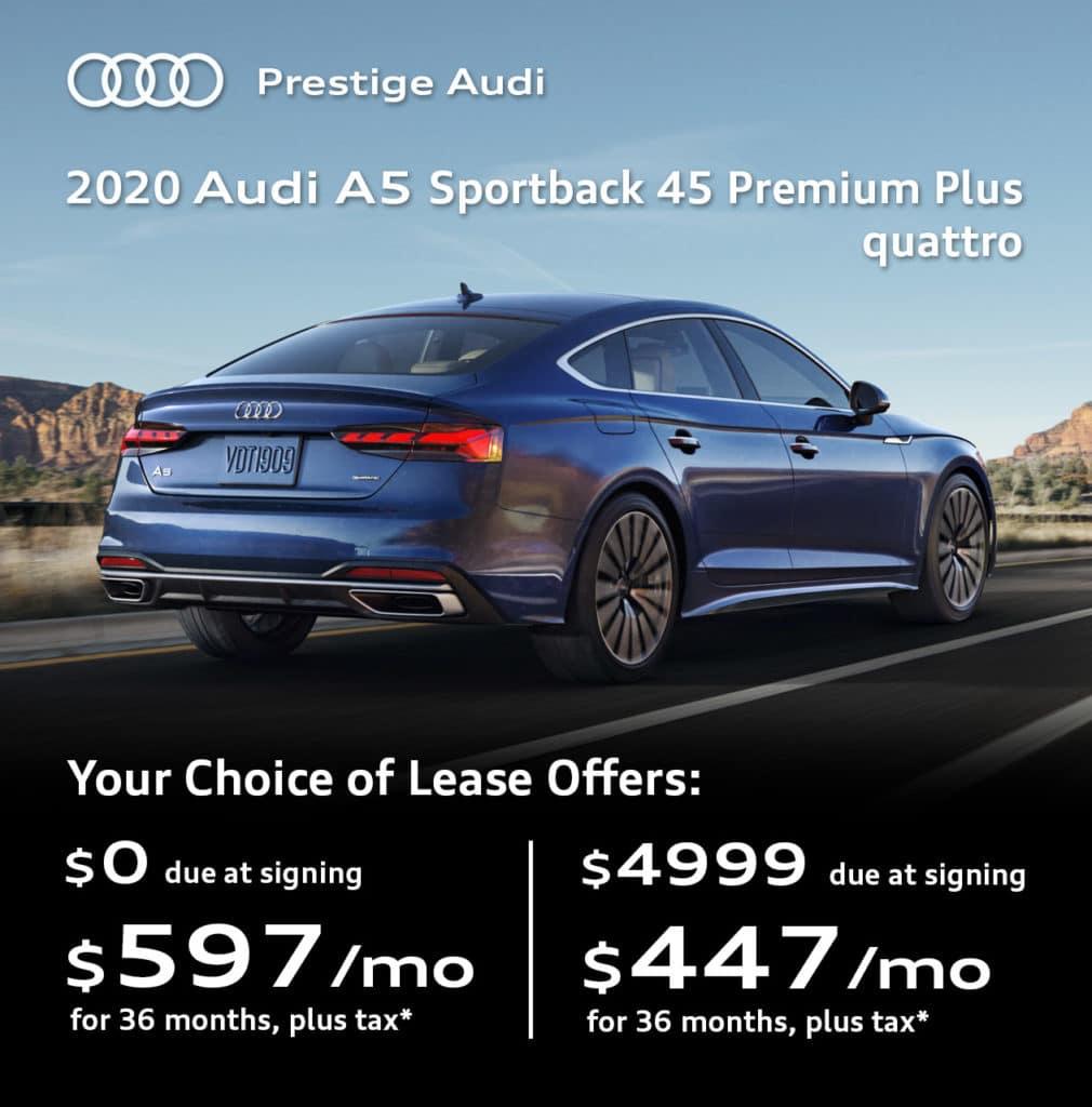 New 2020 Audi A5 Sportback 45 Premium Plus quattro