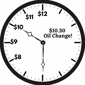 TIME YOUR PRICE OIL CHANGE!