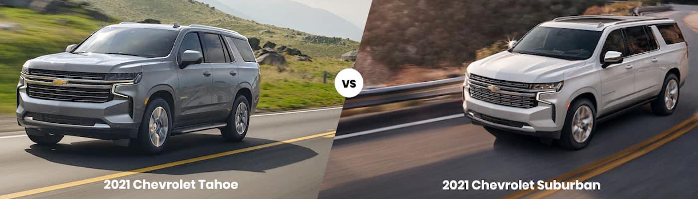 2021 Chevrolet Tahoe vs. 2021 Chevrolet Suburban