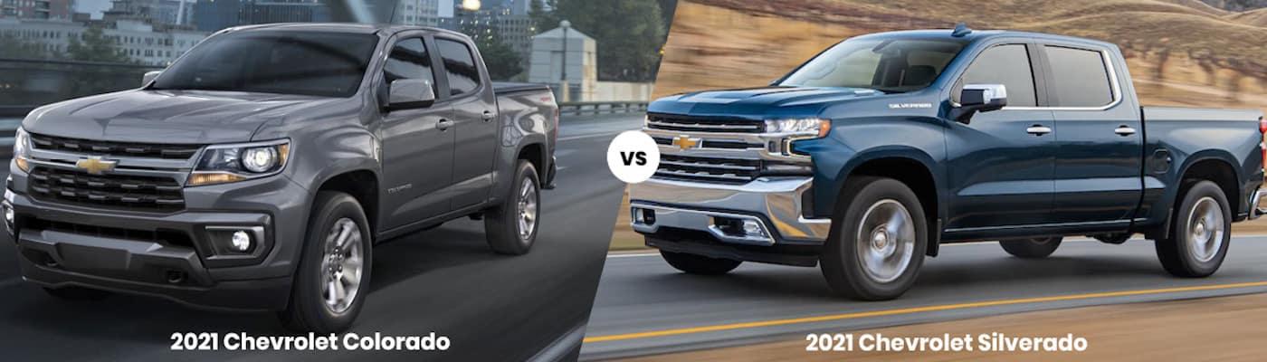 2021 Chevrolet Colorado vs 2021 Chevrolet Silverado