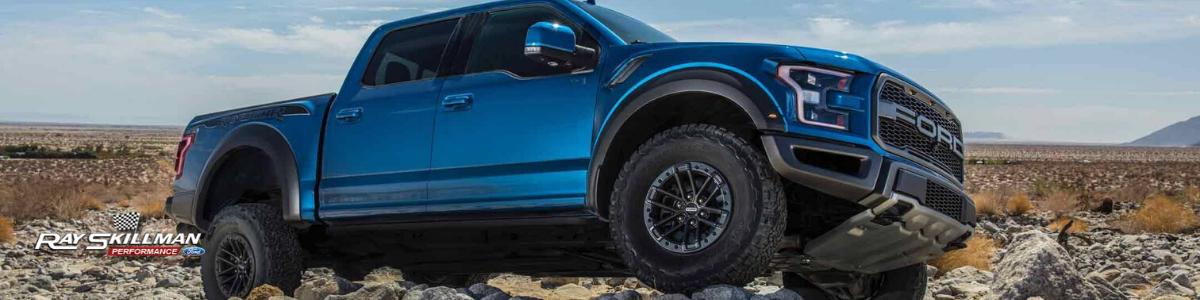 blue raptor truck