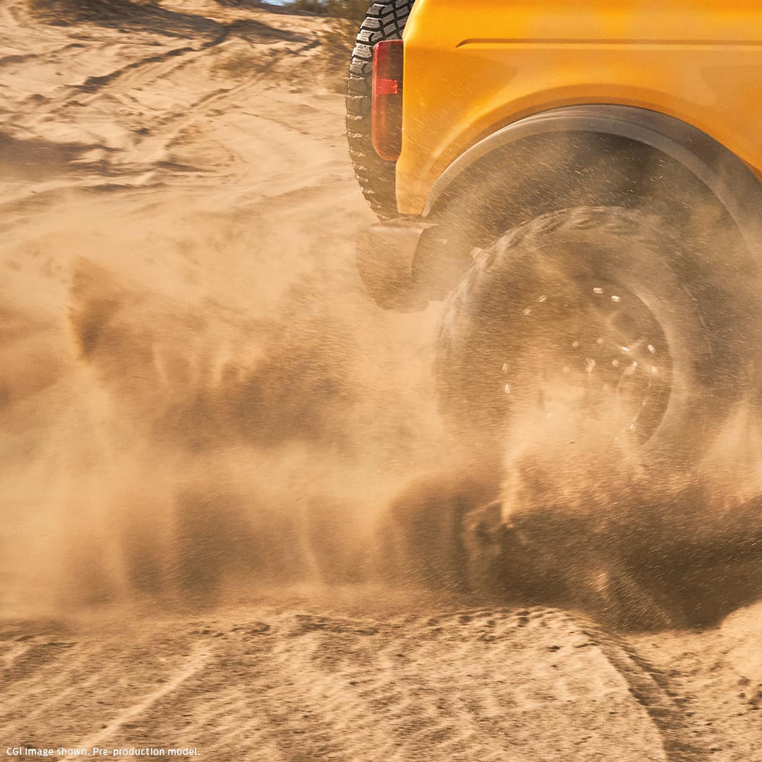 bronco tires in sand