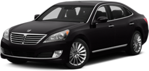 Hyundai Equus in black