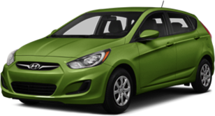 Hyundai Accent in green