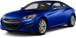Hyundai Genesis coupe in blue