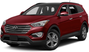 Hyundai Santa Fe in red