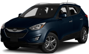 Hyundai Tucson in dark blue