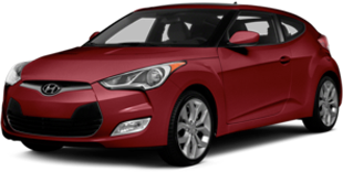 Hyundai Veloster in red