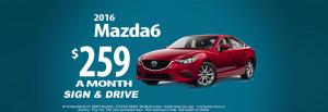 2016 Mazda6 $259 Sign & Drive
