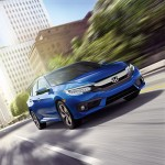 16 Civic Sedan Touring Location CitySkyline AegeanBlueMetallic