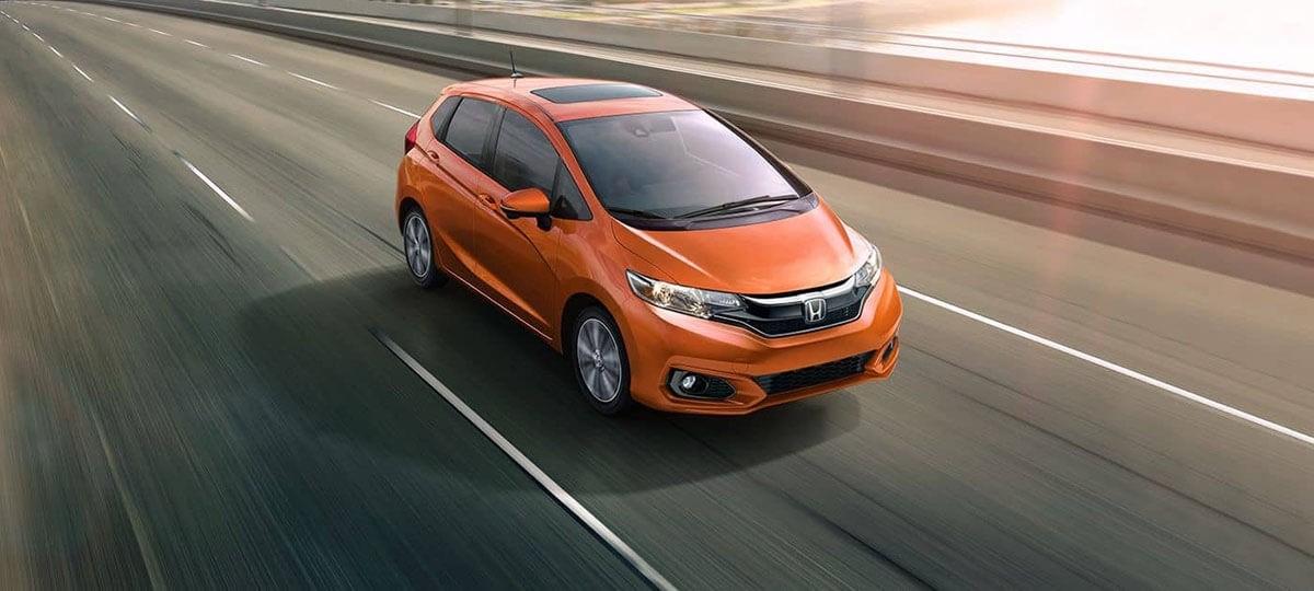 2018 Honda Fit orange exterior